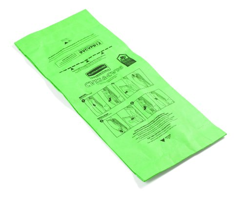 Rubbermaid FG9VCVPB12 Replacement Paper Bag for Commercial Upright Vacuum Cleaner, 9VCV12, 9VCV16 FG9VCVPB12