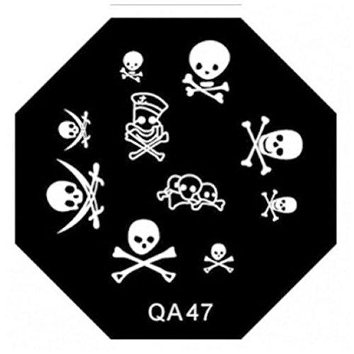 Pattern Manicure Stamping Nail Art Plates QA Series Type Code - And Dulce Gabbana