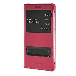 MOONCASE Slimtratando ventana Funda Carcasa Cuero Tapa Case Cover para Huawei Honor 7 Hot Rosa