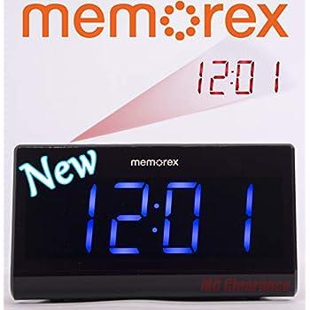 Memorex MC0952 Projection 180° Flip with Focus Clock Double Alarm Radio