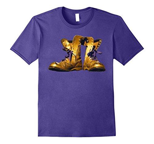 Mens Omega Gold Purple Q Psi Phi Army Boots T-Shirt 2 2XL (Omega Psi Phi Clothing)