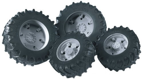 (Bruder Twin Tires with Grey Rims for 03000 Tractor Series by Bruder Toys)