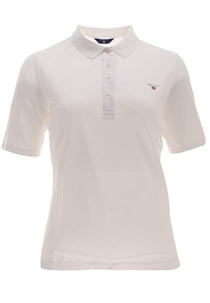 GANT The Original Pique Lss Polo, Blanco (White 110), Small para ...
