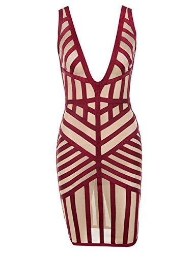 mesh bandage dress - 9