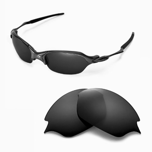 7ba1c8cd168 Walleva Replacement Lenses for Oakley Romeo 2.0 Sunglasses - Multiple  Options Available (Black - Polarized) - Buy Online in Oman.