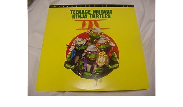 Laserdisc Teenage Mutant Ninja Turtles III with Paige Turco, Elias Koteas, Vivian Wu, Sab Shimono, Stuart Wilson Rated PG.