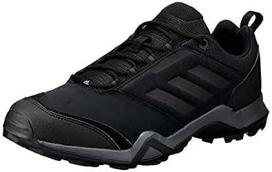 adidas Australia Men's TERREX Brushwood Leather Trail Running Shoes, Core Black/Core Black/Grey, 6.5 US