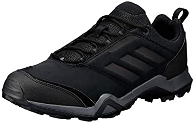 adidas Australia Men's Terrex Brushwood Leather Trail Running Shoes, Core Black/Core Black/Grey