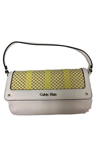 Calvin Klein Women's Clutch Bag (White/Yellow/Gold)