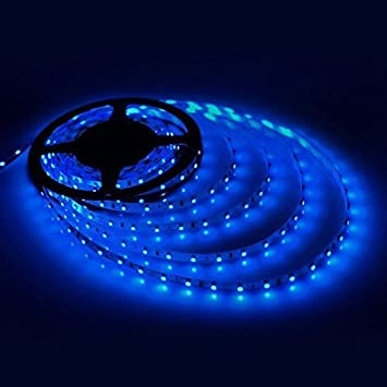 Amazon geree blue led strip lights smd 3528 164 ft 5m 300 geree blue led strip lights smd 3528 164 ft 5m 300 leds flexible rope mozeypictures Image collections