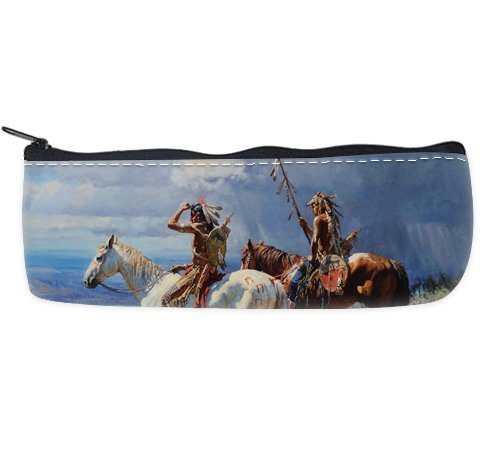 Native American Indian Art Paintings Custom Art Printing Pencil Case Students Stationery Bags Pencil Holders Pen Bag