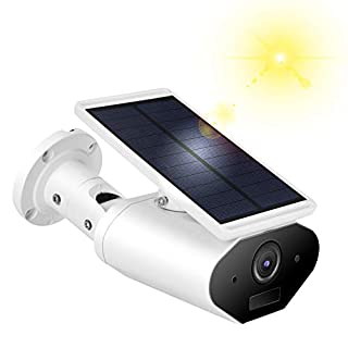 1080P HD Solar Camera, Solar Powered Wireless IP Camera, Outdoor Security Camera, Night Vision Surveillance CCTV Camera with Motion Detection, Waterproof, Support iOS/Android System