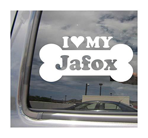 I Heart Love My Irish Jafox - Dog Bone Japanese Chin Toy Fox Terrier Designer Mixed Hybrid Breed Cars Trucks Moped Helmet Auto Automotive Craft Laptop Vinyl Decal Store Window Wall Sticker 13531 ()