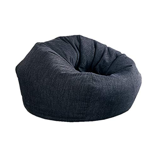 - Aonier Fuf Soft Cotton Filled Cotton Bean Bag Chair Large Black Lenox Shredded Soft Silk Wadding Filling Very Comfortable (Large, Black)