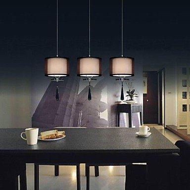 king 3 Lights Cloth Lamps Minimalist Crystal Pendant Lights