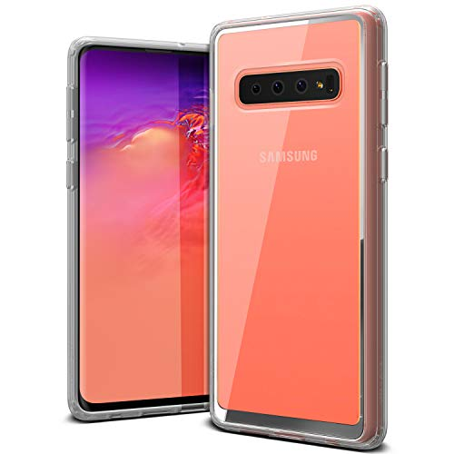 Galaxy S10 Case VRS Design Anti-Yellowing Crystal Clear Slim Soft Protective Reinforced Corners [Crystal Chrome] [Clear Back/Translucent Bumper] Acryl Back Cover for Galaxy S10(2019)