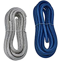 Conext Link 20 FT 4 AWG GA Full Gauge Battery Power Cable Ground Wire OFC copper Frost Blue and Clear Silver Each 10ft