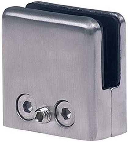 4st 8mm Glashalter Edelstahl Klemmhalter Glasklemme Geländer Glasplattenhalter