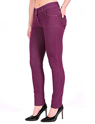 Jeggings 16 12 Missmister Pants 8 18 Stretchy Coloured Trousers 20 Skinny 22 14 Jeans Fit Women's Purple Ladies 10 Wqzrv7q60