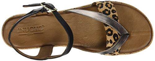 Inuovo 7913 - tira en talón Mujer Multicolore (Pewter Leopard Black)