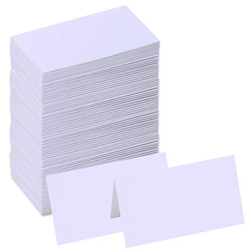 (Supla 100 Pcs Table Name Place Cards Blank Place Cards White Table Tent Cards Table Name Tags Table Card Seating Cards -3.5