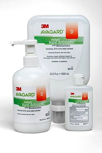 3M Healthcare Avagard D Instant Hand Antiseptic, 3oz Bottles - 1/Case of 48