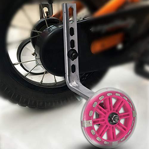 Quieting Universal Kids Bike Bicycle Stabiliser Children Training Wheels 12-20″ LED Light