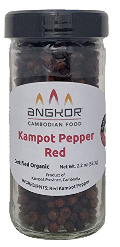 Organic Kampot Pepper (ម្រេចកំពត); Red 2.2oz by Angkor Cambodian Food
