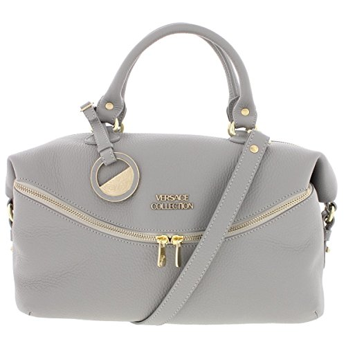 Versace Collection Womens Leather Pebbled Satchel Handbag for sale  Delivered anywhere in USA