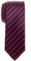 Retreez Thin Regimental Striped Woven Microfiber Skinny Tie - Various Colors