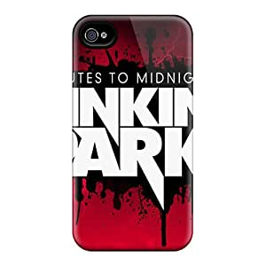 Shock Absorption Hard Cell-phone Case For Iphone 4/4s (eXf9081nXjA) Allow Personal Design Fashion Linkin Park Pictures