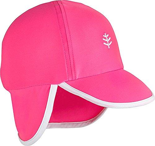 Coolibar UPF 50+ Baby Splashy All Sport Hat - Sun Protective (2T-3T- Aloha Pink/White) by Coolibar