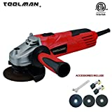 Cheap Toolman Electric Angle Grinder 4-1/2″ 4.8 Amps speed 11500BPM for cutting grinding metal or stone works with DeWalt Makita Ryobi
