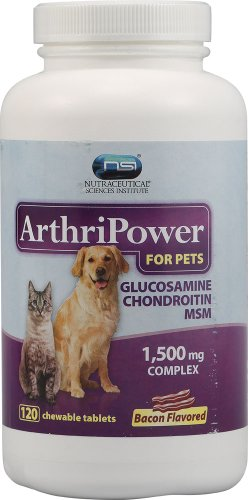 NSI ArthriPower For Pets Bacon Flavor — 1,500 mg – 120 Chewable Tablets, My Pet Supplies
