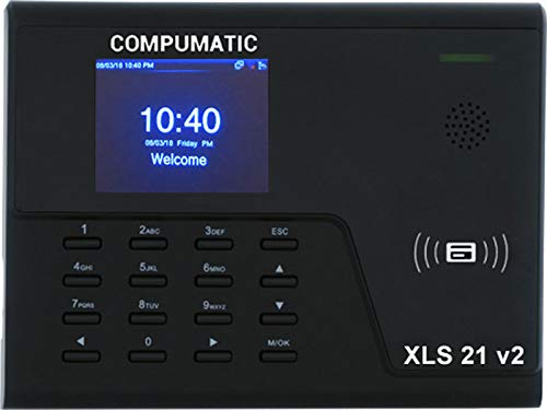 - Compumatic XLS 21 v2 PIN Entry and RFID Proximity Badge Card Time Clock System, WiFi, CompuTime101 Software Included, 0 NO Monthly Fees!!
