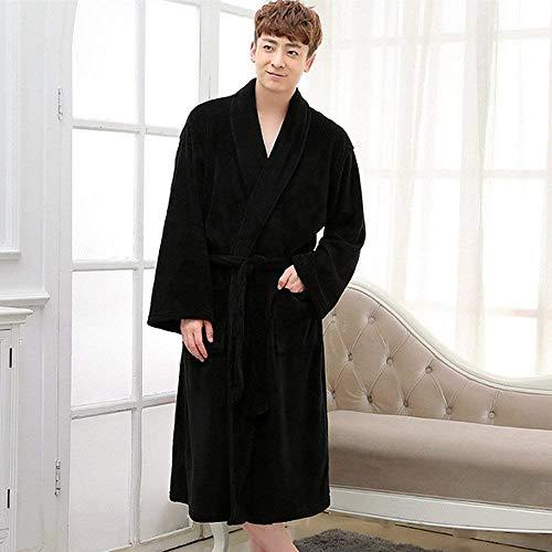 Accappatoio Con Homewear Semplice Autunno Bagno Robe Da Vestitino Vestaglia Uomo Plaid Cintura Schwarz Stile Primavera Classica 8Wqw8TrSA