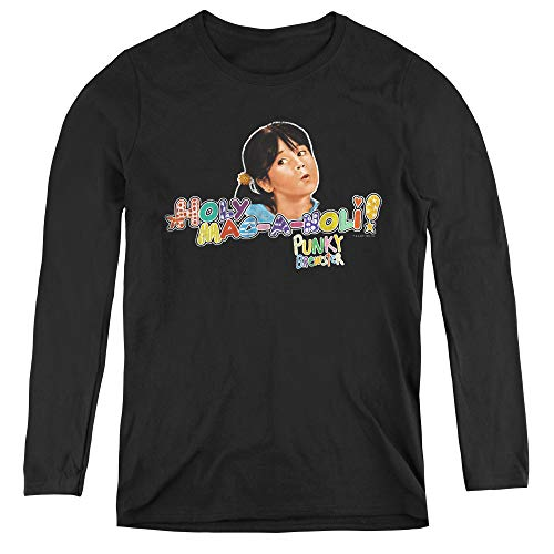 Punky Brewster Holy Mac A Noli Adult Long Sleeve T-Shirt for Women, X-Large Black ()