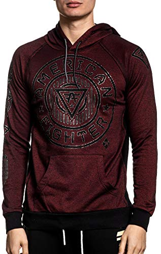 American Fighter Northbridge Linear Long Sleeve Sport Graphic Pullover Hoodie For Men By Affliction