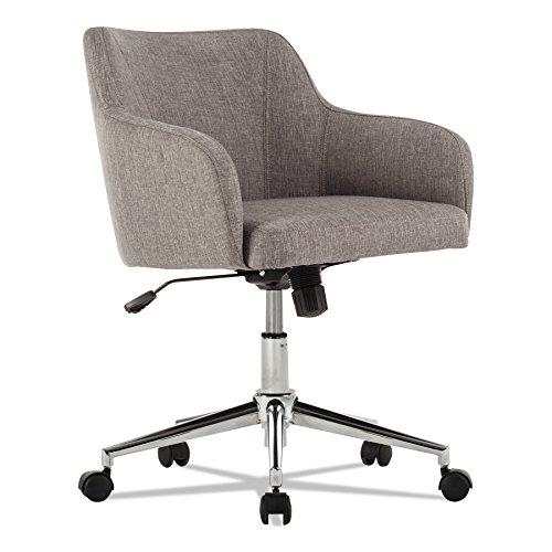 Alera ALECS4251 Captain Series Mid-Back Chair, Gray Tweed