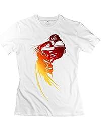 Mens Tshirt Final Fantasy VIII Logo White. hm