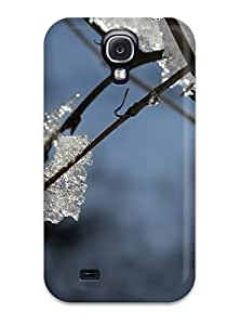 Galaxy S4 Case Cover Skin : Premium High Quality Ice On Branch Blue White Snow Water Kids Jackets Dresses Shoes Vacations Season Coats Fall Flowers S Nature Winter Case