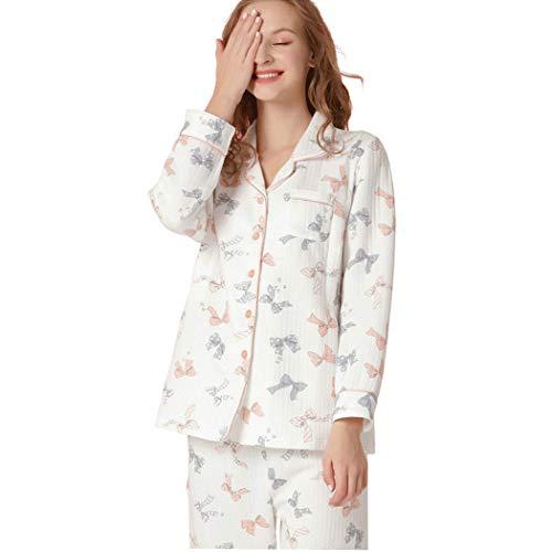 Metro tamaño De Ligera Amamantando Hogar Ropa El Para Pijamas Gjfeng Mujeres Algodón Embarazadas Invierno Cálidos nHwqOgA16