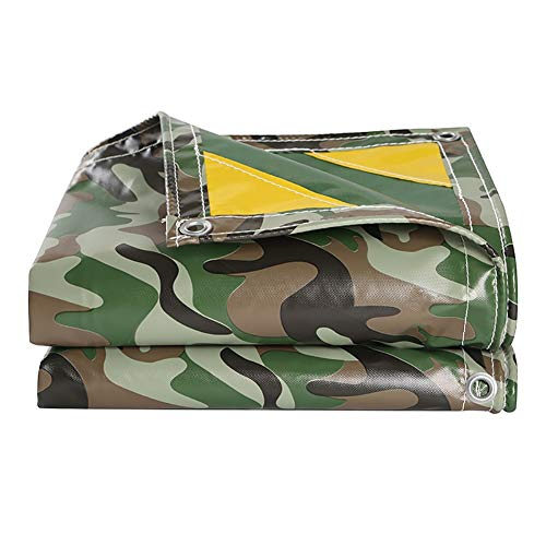 Heavy Duty Waterproof Camo Tarp - Camouflage/Green Vinyl Tarpaulin for Outdoor Camping RV Truck and Trailers (Size : 4x5m)
