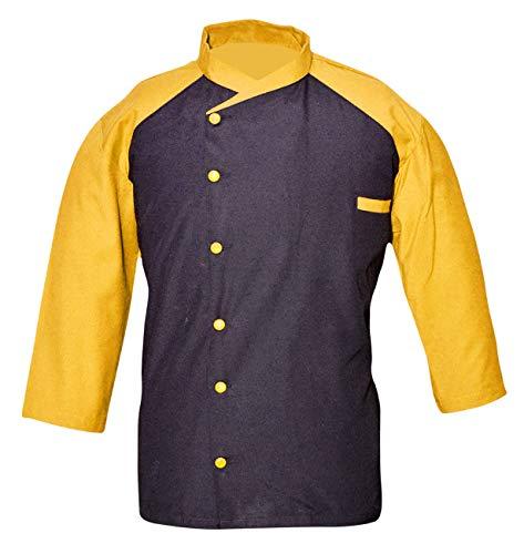 Leorenzo Creation EQ-06 Men's Chef Coat (Size-5XL, Yellow & Black Colours)