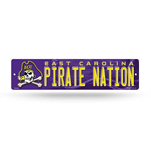 NCAA East Carolina Pirates 16-Inch Plastic Street Sign Décor