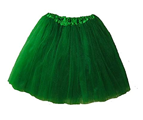 Adult Ballet Tutu Waist 18-36 Length 16-17 by Southern Wrag Company (Kelly Green)