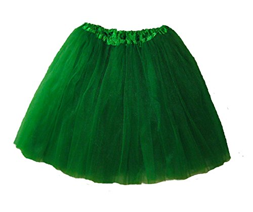 [Extra Plus Size Ballet Tutu Waist 34-66 Length 16-17 by Southern Wrag Company (Kelly Green)] (Holiday Recital Costumes)