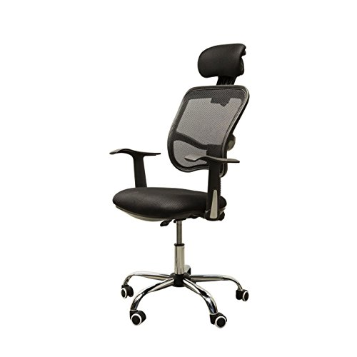 Adjustable Mesh Task Computer Desk Office Chair High Back with Headrest Swivel Black #507 (Patio Edmonton Heater Parts)