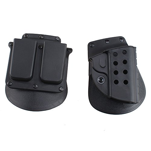 AGPtek-Quick-Tactical-Right-Hand-Holster-Magazine-Double-Mag-Pouch-for-Colt-1911