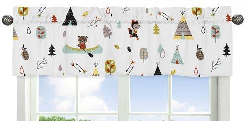 Sweet Jojo Designs Outdoor Adventure Collection Nature Fox Bear Animals Boys Window Valance by Sweet Jojo Designs